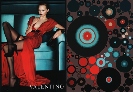 Valentino, before and after