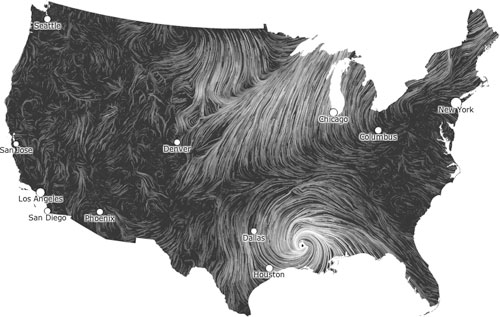 Wind Map Fernanda Viegas Martin Wattenberg - Map of weather patterns in the us
