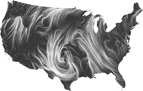Wind Map by Fernanda Vigas and Martin Wattenberg